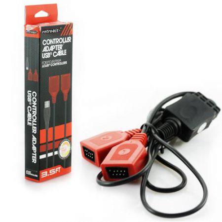 Adaptateur USB PC Pour 2 Manettes Joystick Atari 2600 - RB-PC-7031