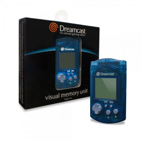 Carte Memoire Officielle Sega Dreamcast - VMU Visual Memory Unit - Bleu - ADC1216