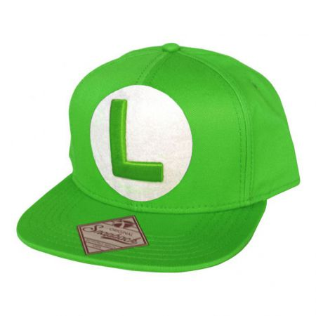 Casquette Verte US FLAT Snapback Nintendo Luigi - PD-CQT-4263