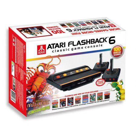 Console Plug & Play Atari Flashback 6 + 2 Manettes sans fil + 100 Jeux - CATARI3370