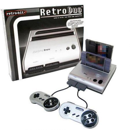Console Retro Duo Silver Super Nintendo et Nes (Freezones + 2 Manettes)