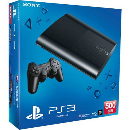 Console Sony Ps3 Ultra Slim Noire 500 Go