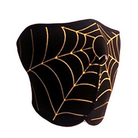 Demi Masque Protection Neoprene Bas Visage Spider Noir & Jaune - 67136