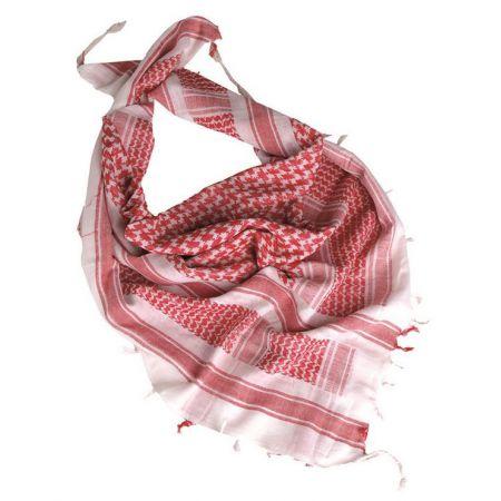 Echarpe Shemagh Keffieh Cheche Jordaniens Rouge et Blanc 110x110cm - Couvre Tete - Miltec 12614000
