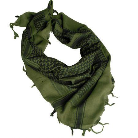 Echarpe Shemagh Keffieh (K�fi�) Cheche Vert Olive et Noir 110x110cm - Couvre Tete - Miltec 12610000