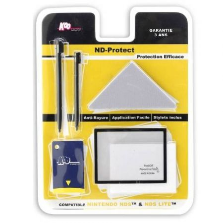 Films Protection écrans DS & DS Lite + 2 stylets