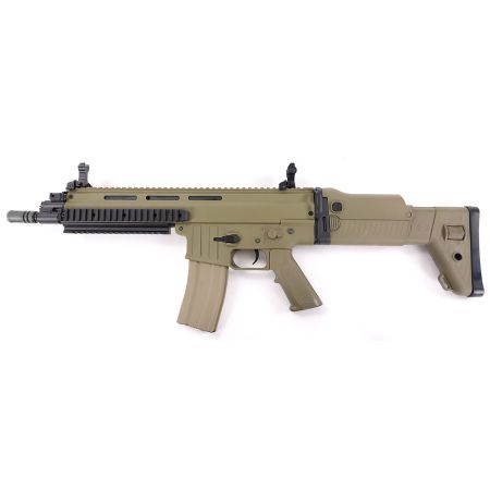 Fusil ISSC CQC MK22 Commando (SCAR-L) AEG - Classic Army - Tan / Dark Earth