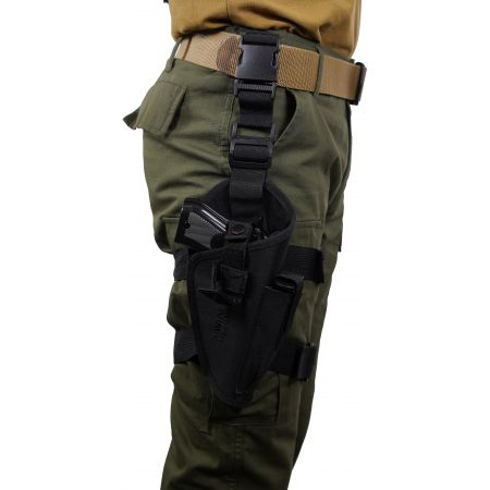 Holster De Cuisse Noir En Cordura Swiss Arms 603603