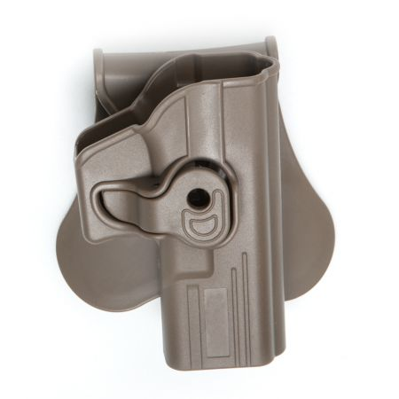 Holster Paddle CQC Rigide Polymere Tan Droitier Type G Glock 17 / 18 / 22 / 31 - Rotatif - 18427