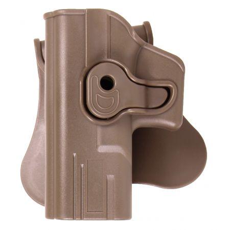Holster Paddle CQC Rigide Polymere Tan Gaucher Type G Glock 17 / 18 / 22 / 31 - Rotatif - 18428