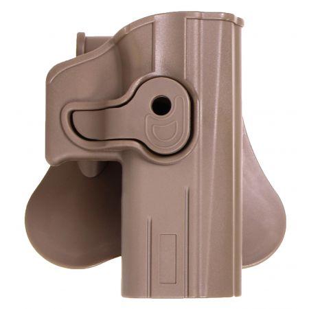 Holster Paddle CQC Tan Droitier Rigide Polymere CQC Replique CZ P09 P07 SP01 Bersa Thunder 9 Pro - 18431