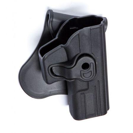 Holster Rigide Polymere Noir Droitier Type G Glock 17 / 18 / 22 / 31 - Rotatif - 18213