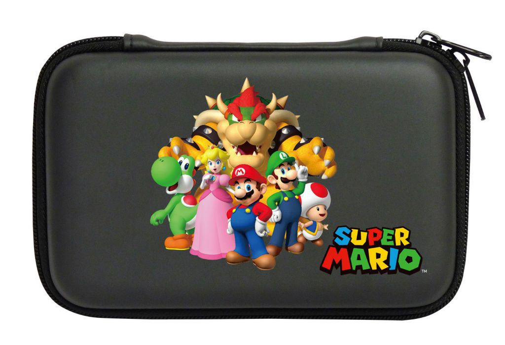 Housse protection sacoche rigide mario familly 3ds xl for Housse nintendo 3ds xl