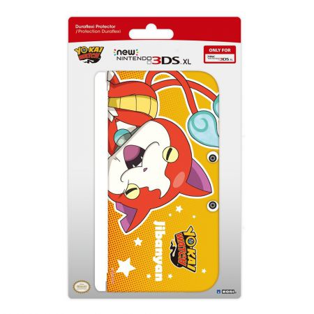 Housse Protection Silicone Duraflex Yo-Kai Watch - Jibanyan - Console New 3Ds XL - Hori 3DS-465E