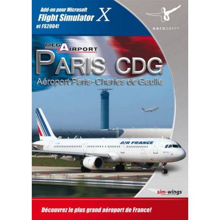 Jeu Pc - Add-on Microsoft Flight Simulator X - Mega Airport Paris CDG