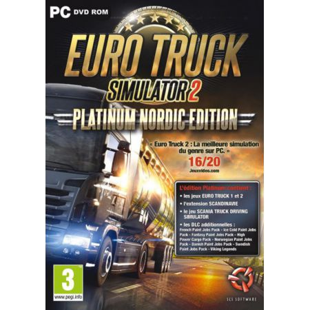 Jeu Pc - Euro Truck Simulator 2 : Platinum Nordic Edition