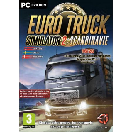 Jeu Pc - Euro Truck Simulator 2 : Scandinavie