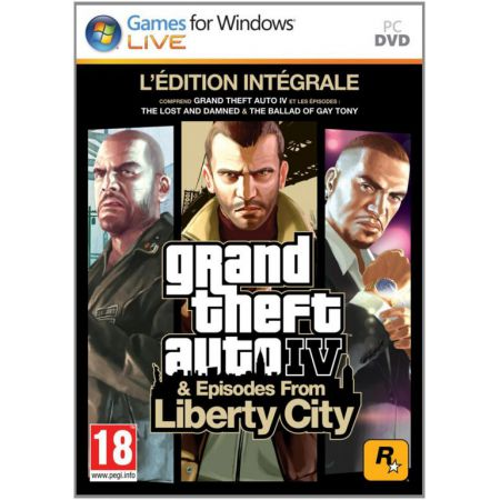 Jeu Pc - GTA 4 - Grand Theft Auto IV Edition Integrale + Episode From Liberty City