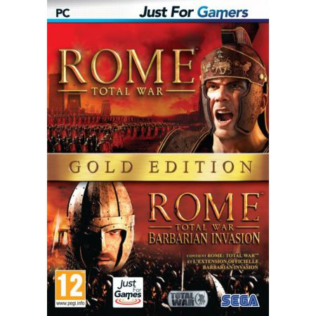 Jeu Pc - Rome Total War + Barbarian Invasion Gold Edition