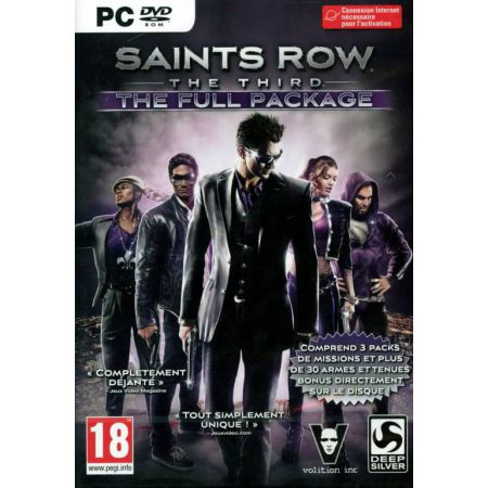 Jeu Pc - Saints Row : The Third The Full Package