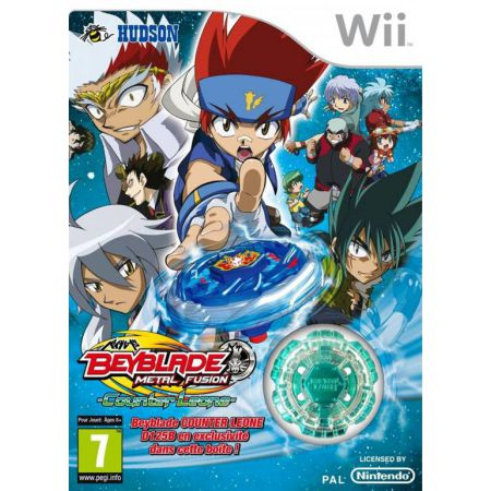 Jeu Wii - Beyblade Metal Fusion Counter Leone + Toupie D125B