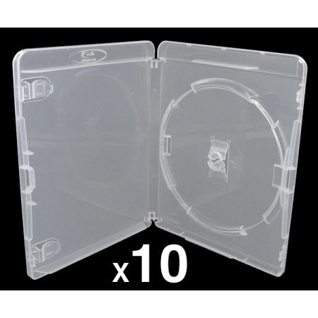 Lot de 10 Boitiers Blu-Ray Transparent Pour Jeu PS3 - BRDVDPS3BK_104