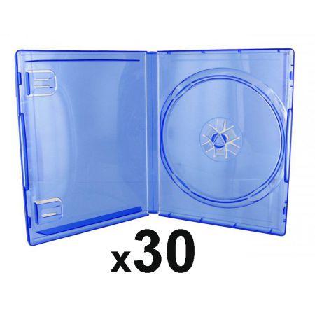 Lot de 30 Boitiers Bleu Transparent Pour Jeu Sony PS4 - PS4_104