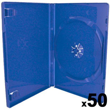Lot de 50 boitiers Bleu CD / DVD / Jeux Video Ps2