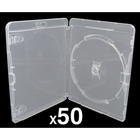 Lot de 50 Boitiers Blu-Ray Transparent Pour Jeu PS3 - BRDVDPS3BK_104