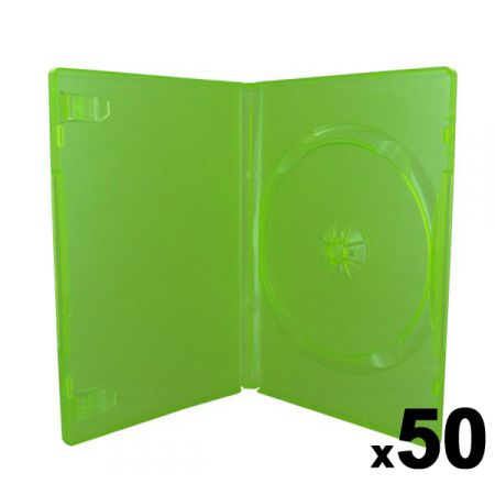 Lot de 50 boitiers Vert Translucide CD / DVD / Jeux Video Xbox 360