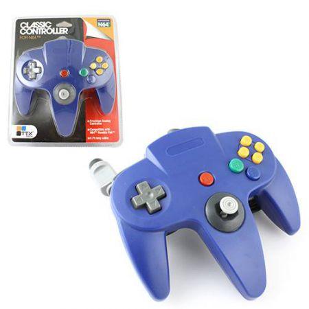 Manette Analogique Bleu Nintendo 64 N64 TTX Tech