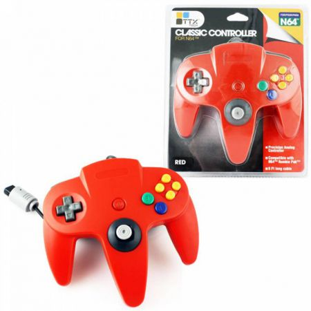 Manette Analogique Rouge Nintendo 64 N64 TTX Tech