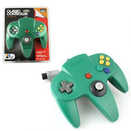 Manette Analogique Verte Nintendo 64 N64 TTX Tech