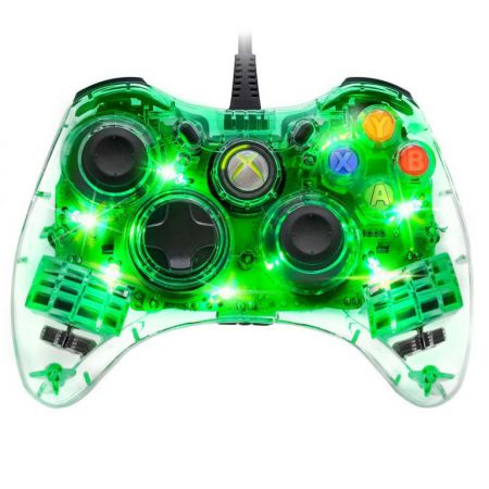 Manette Filaire Xbox 360 Afterglow Verte - PDP - AXB3607074