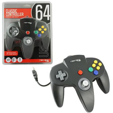 Manette Pc USB Classic Controller Nintendo 64 (N64) Noire