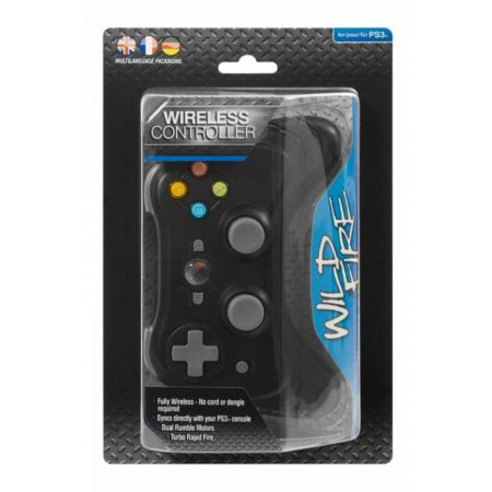 Manette Ps3 Sans Fil Bluetooth Wild Fire Ghosts + Rapid Fire