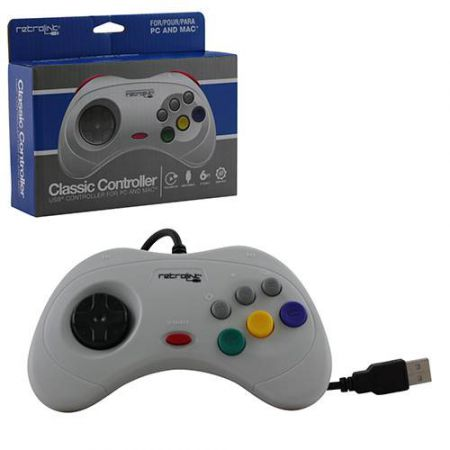 Manette Sega Saturn USB Pour PC Windows & MAC - RB-PC-1408