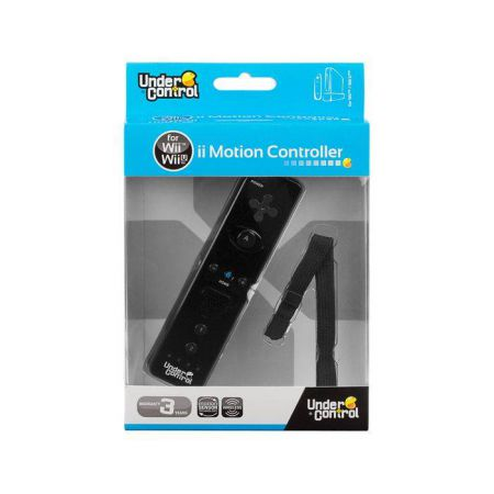 Manette Wiimote Noire Under Control Pour Nintendo Wii & Wii U - 2234