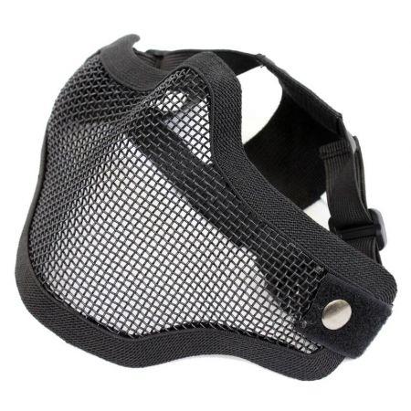 Masque Grillage Stalker Protection Bas Visage Noir - 603987