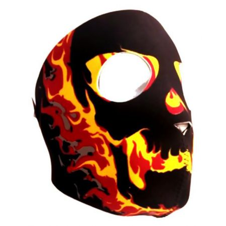 Masque Neoprene Protection Integrale Visage Fire Skull - 67139