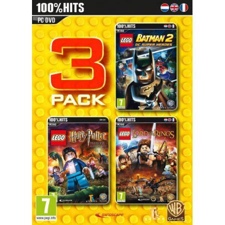 Pack 3 Jeux Lego - Batman 2 DC Super Heroes + Harry Potter Ann�es 5 � 7 + Le Seigneur des Anneaux