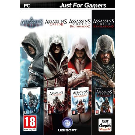Pack 4 Jeux Pc Assassin's Creed + Assassin's Creed 2 + Brotherhood + Revelations - JPC7339