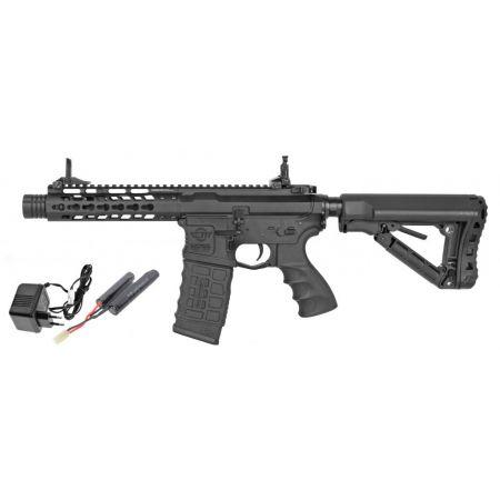 Pack Fusil Carbine G&G CM16 CM 16 M4 Wild Hog 7 AEG + Batterie + Chargeur Secteur