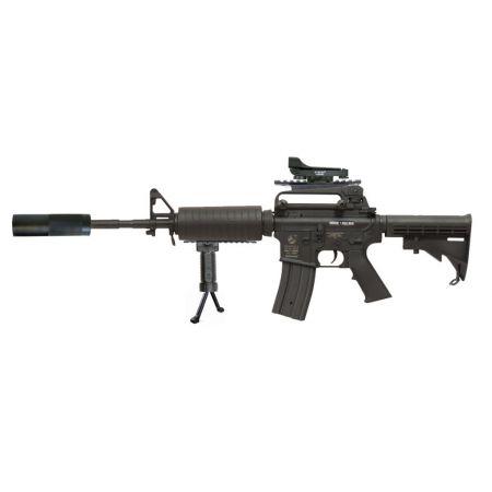 Pack Fusil Colt M4A1 (M4 A1) Electrique AEG + Red Dot + Silencieux + Poignée Verticale - 180800