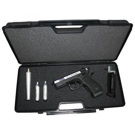 Pack Pistolet CZ 75D Compact Dual Tone CO2 (16189) + 2 Chargeurs  (16280) + 2 Cartouches CO2 + Silencieux (17352) + Malette De Transport CESKA ZBROJOVKA (16189)