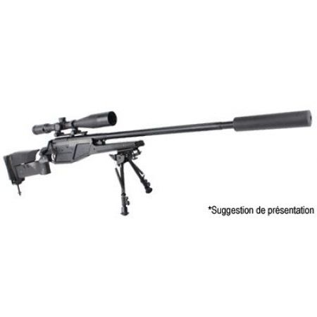 Pack Sniper Blaser R93 LRS1 Spring King Arms (280757) + Lunette de Visée 3-9x40 (263932) + Adaptateur Silencieux (605256) + Silencieux 213x40mm (605230) + Bipied Aluminium (605246)