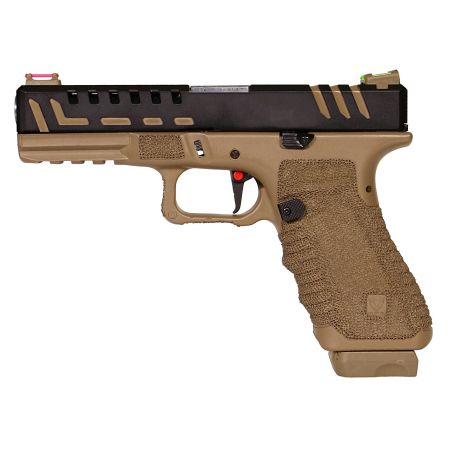 Pistolet APS Scorpion D-MOD Dual Power Co2 DE Dark Earth Blowback APS10214