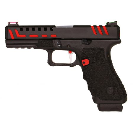 Pistolet APS Scorpion D-MOD Dual Power Co2 Noir & Rouge Blowback - APS10215