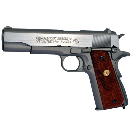 Pistolet Colt 1911 M1911 MK IV Series 70 Stainless Silver Co2 Full Metal - Blowback - 180529