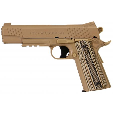 Pistolet Colt 1911 Rail Gun M45A1 (M45 A1) Co2 GNB NBB Tan - 180313